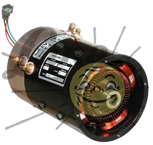 Rebuilt 36 volt, high torque motor for EZGO PDS/DCS cars Image